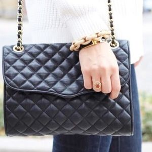Large Rebecca minkoff quilted affair black / gold